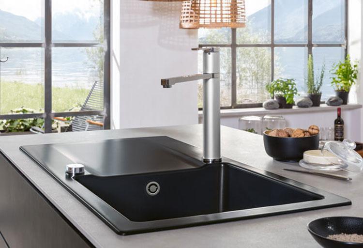 Modello di lavello da cucina in ceramica n.05