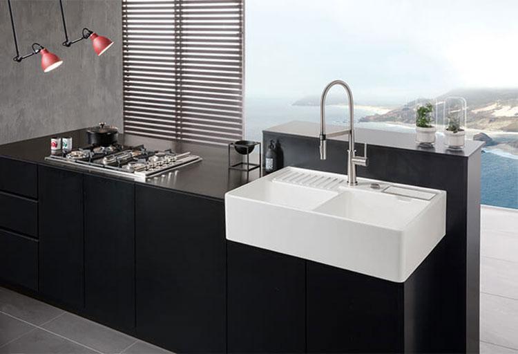 Modello di lavello da cucina in ceramica n.07