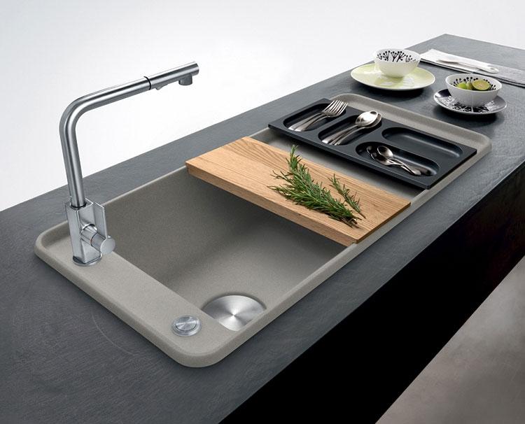 Modello di lavello da cucina in fragranite 01