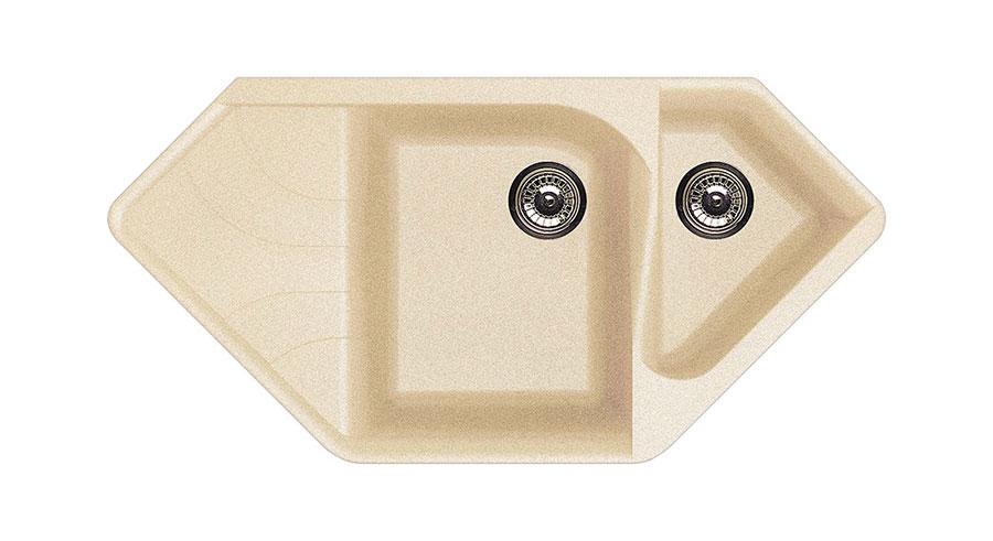Modello di lavello da cucina in pietra n. 03