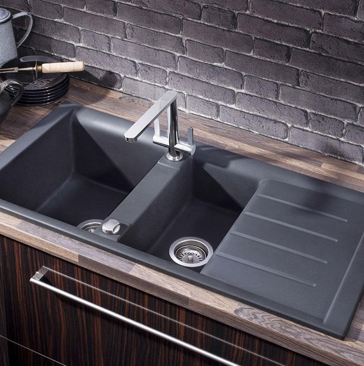 Modello di lavello da cucina in pietra n. 05