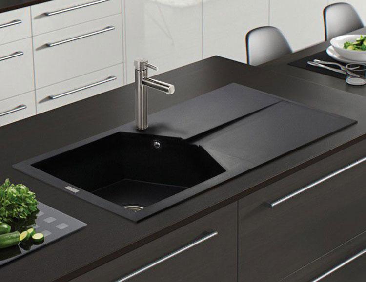 Modello di lavello da cucina in pietra n. 07