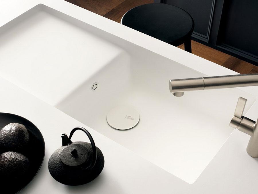 Modello di lavello da cucina in resina 02