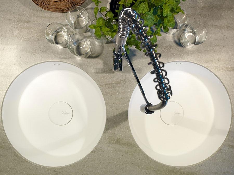 Modello di lavello da cucina in resina 03