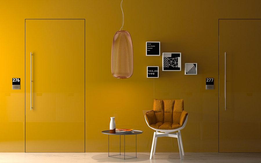 Modello di porta interna a filo muro moderna n. 02