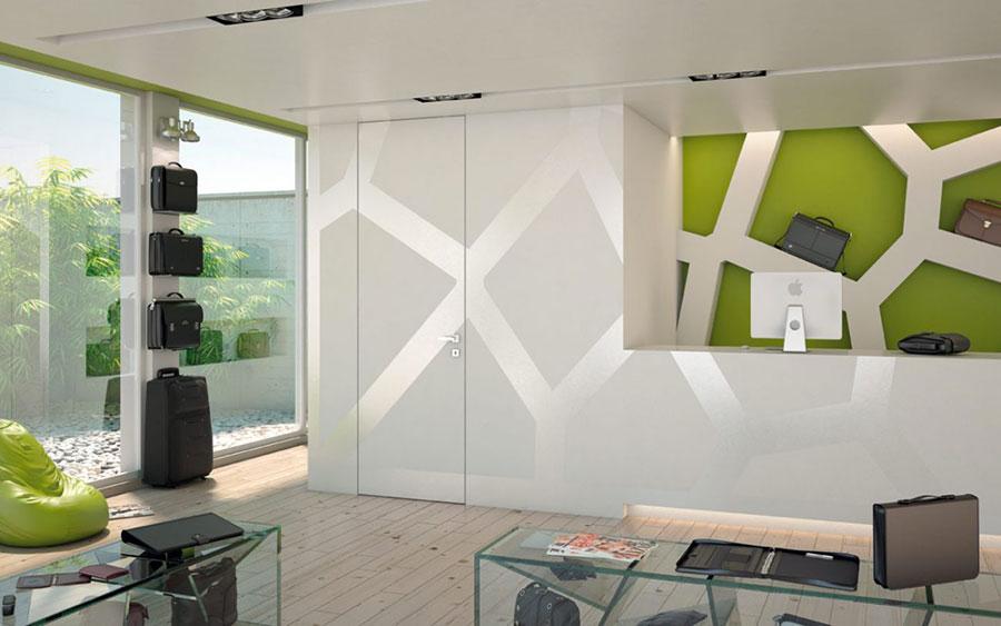 Modello di porta interna a filo muro moderna n. 04