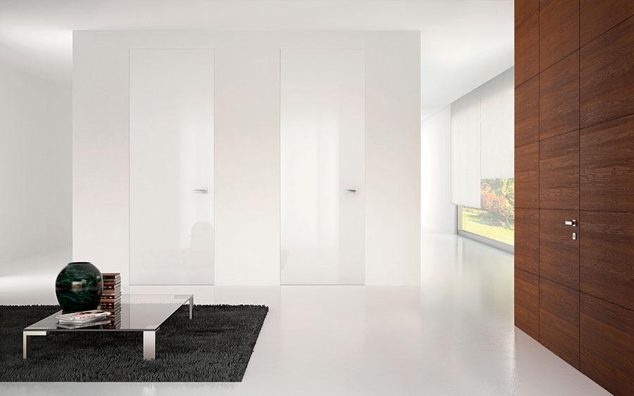 Modello di porta interna a filo muro moderna n. 05