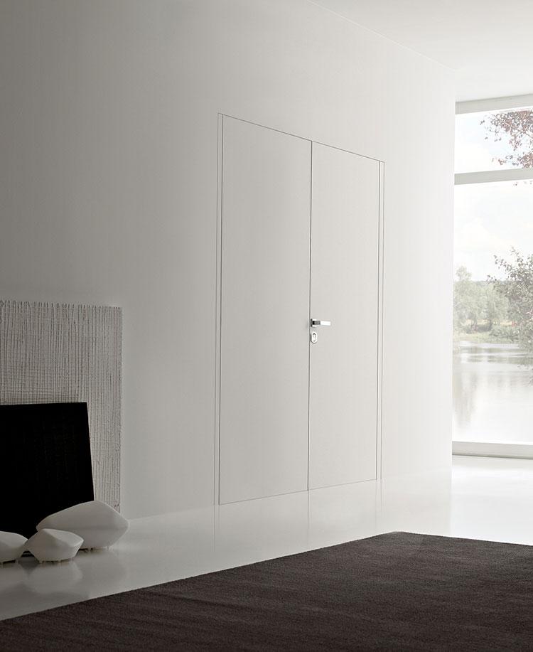 Modello di porta interna a filo muro moderna n. 06