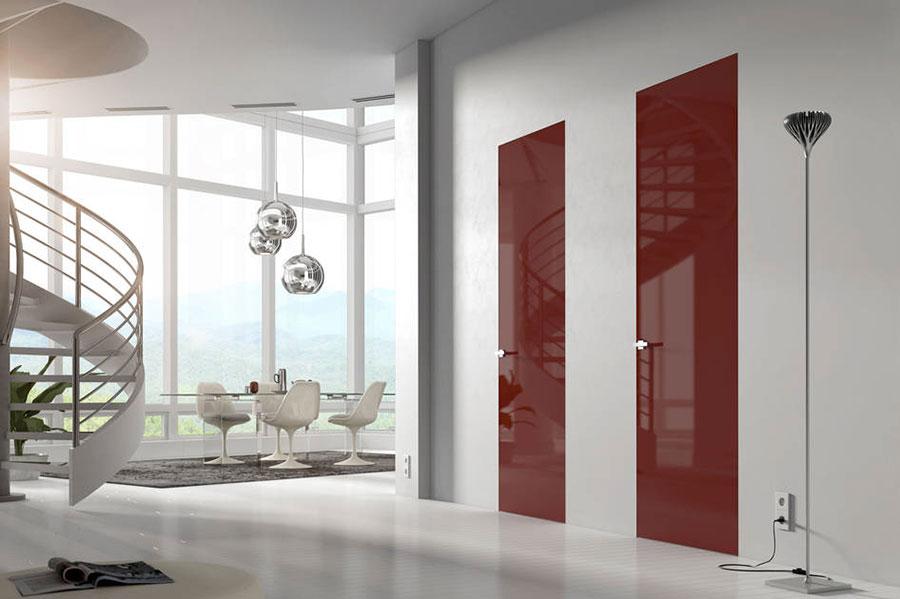 Modello di porta interna a filo muro moderna n. 08