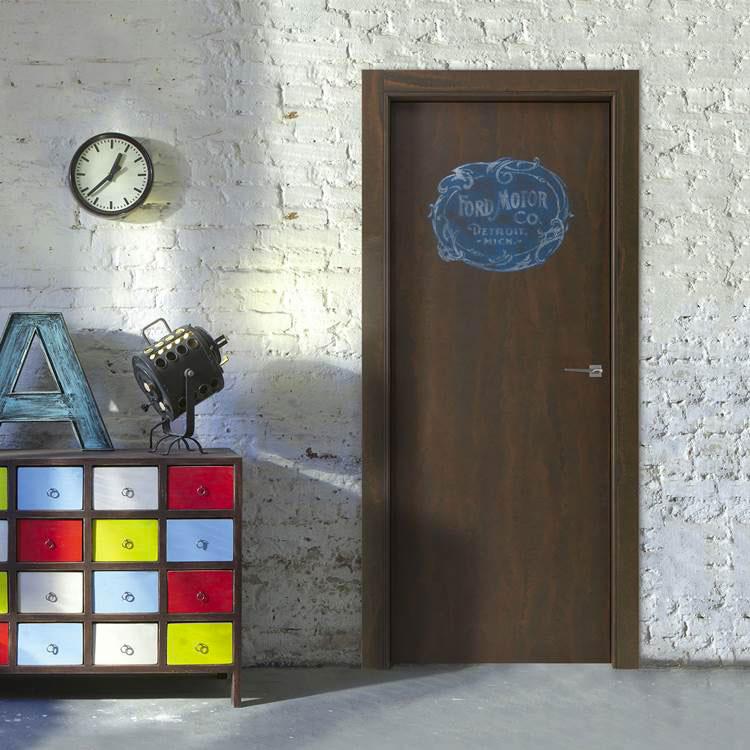 Modello di porta interna moderna in corten n.03