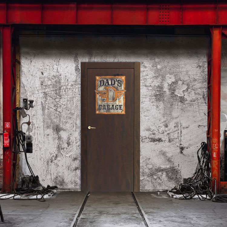 Modello di porta interna moderna in corten n.04