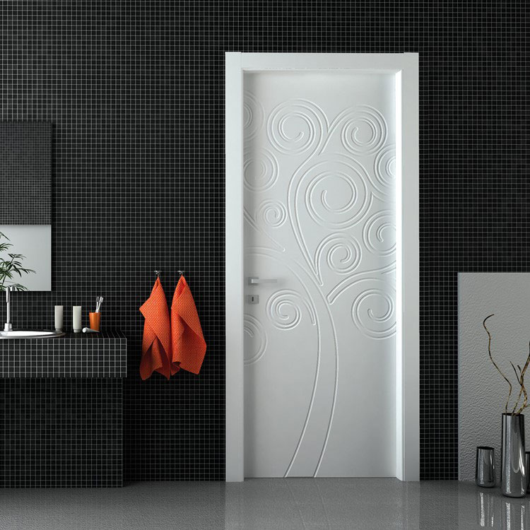 Modello di porta interna moderna decorata n. 10