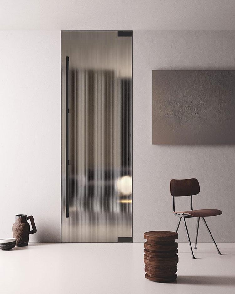 Modello di porta interna moderna in vetro n. 08