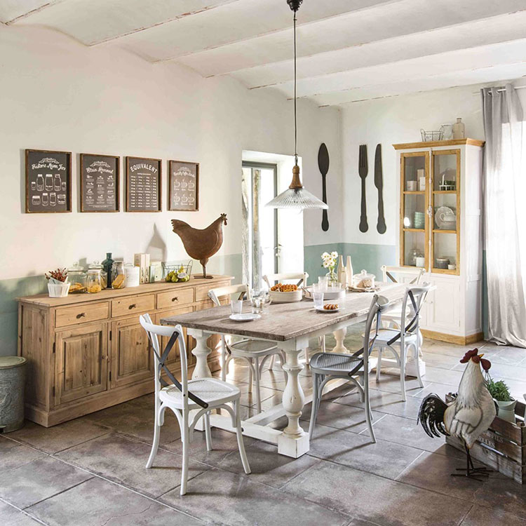 Arredamento per sala da pranzo shabby chic Maisons Du Monde n.05
