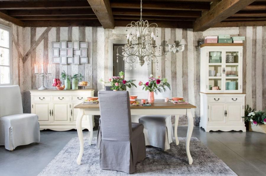 Arredamento per sala da pranzo shabby chic Maisons Du Monde n.07