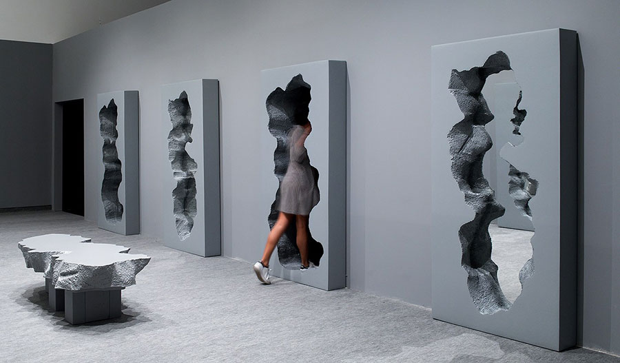 Specchio da terra per ingresso di design n.04