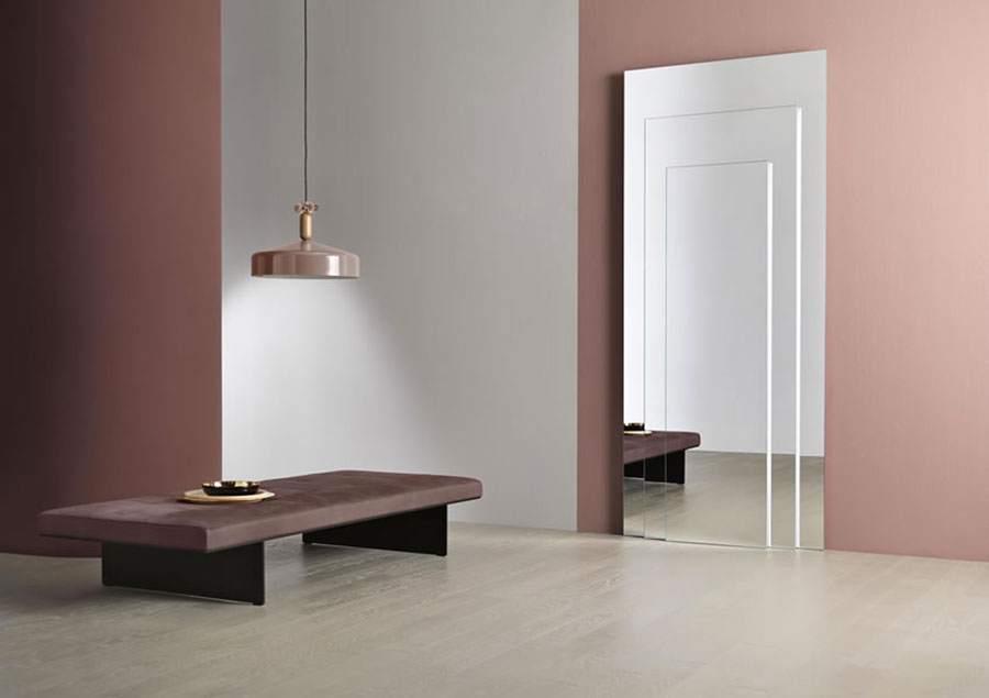 Specchio da terra per ingresso di design n.07