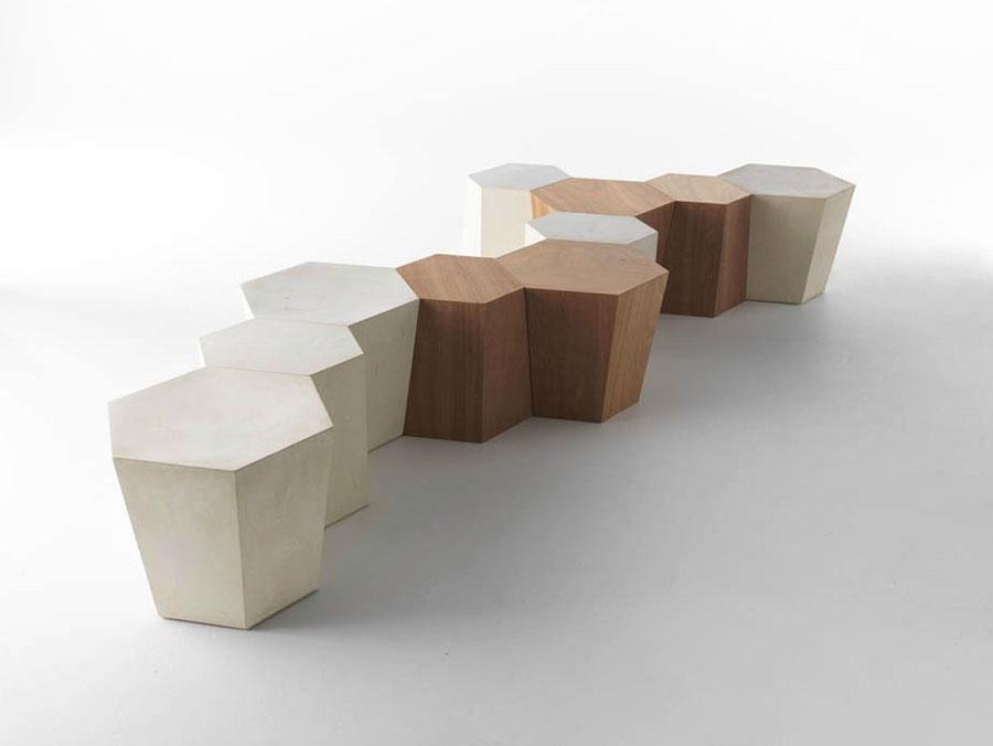 Modello di tavolino da salotto dal design moderno n.23