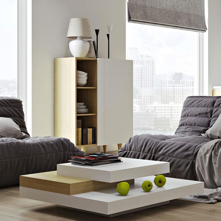 Modello di tavolino da salotto dal design moderno n.24