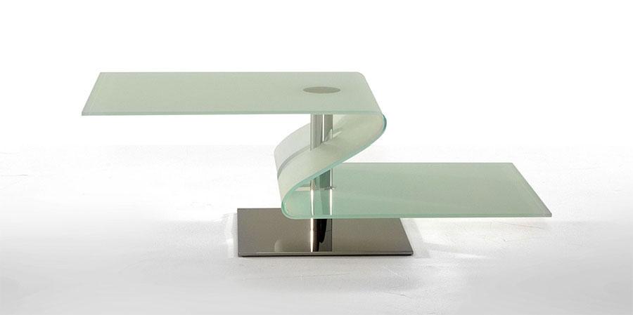 Modello di tavolino da salotto in vetro n.02