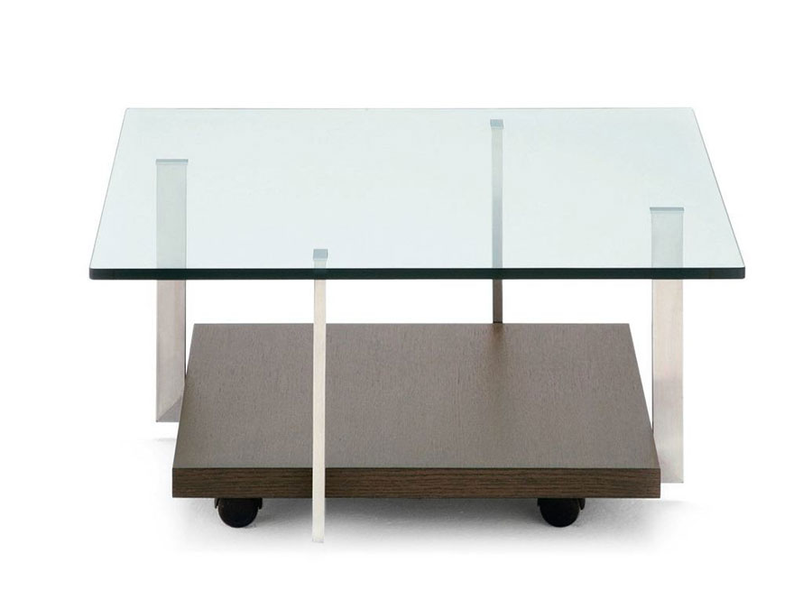 Modello di tavolino da salotto in vetro n.04