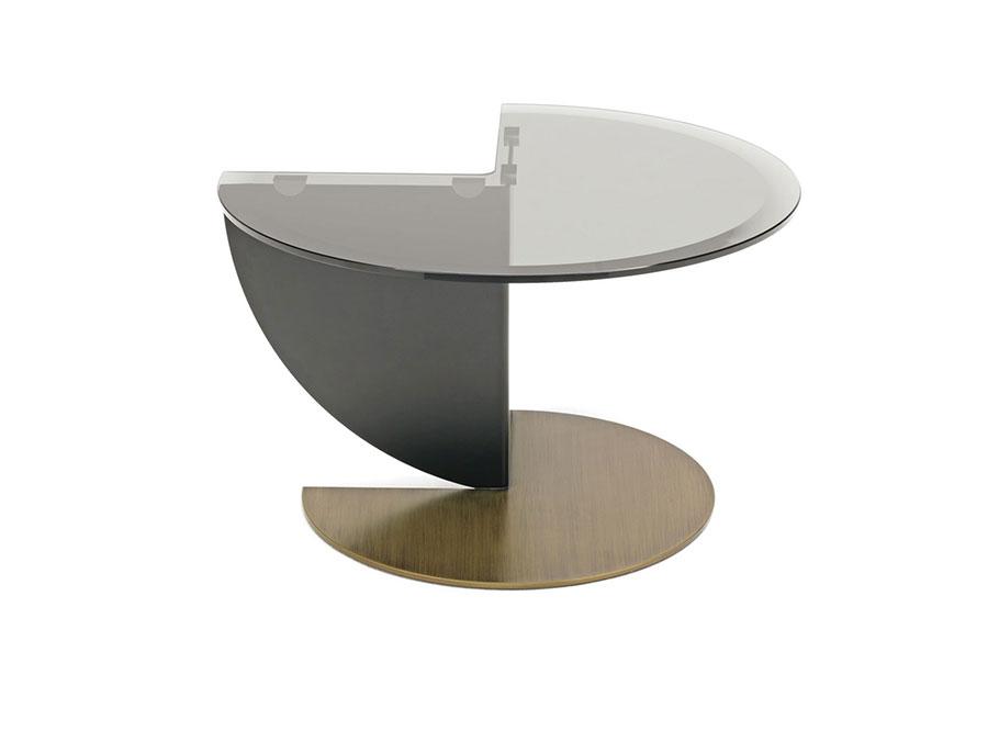 Modello di tavolino da salotto in vetro n.05