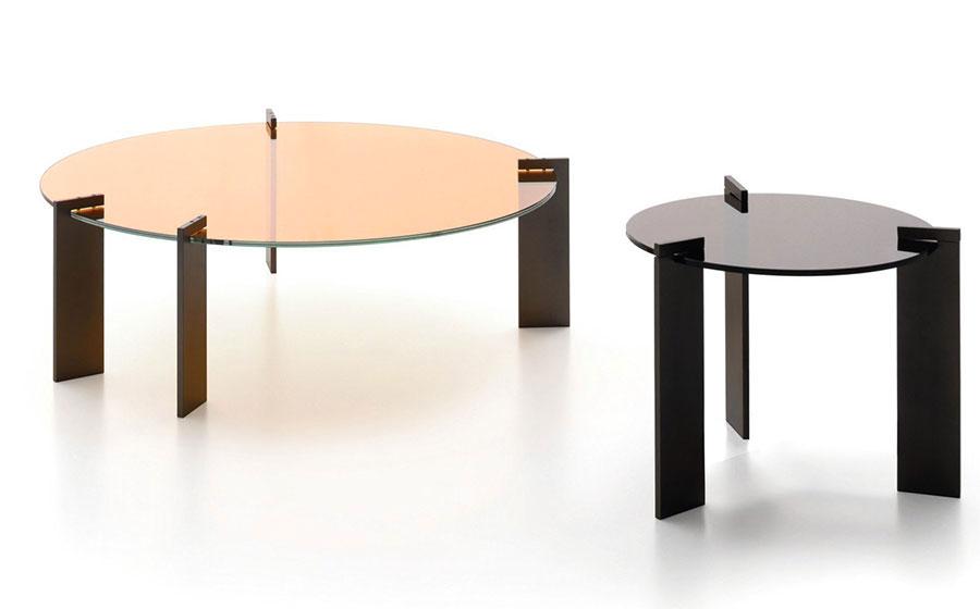 Modello di tavolino da salotto in vetro n.06