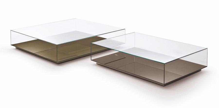 Modello di tavolino da salotto in vetro n.07