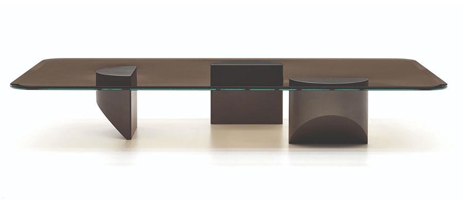 Modello di tavolino da salotto in vetro n.10