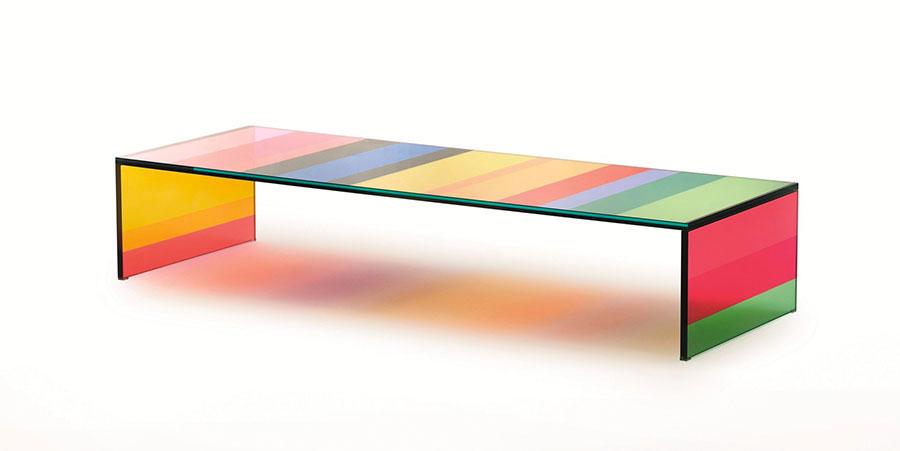 Modello di tavolino da salotto in vetro n.11