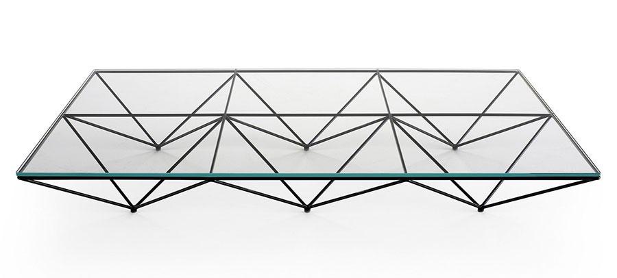 Modello di tavolino da salotto in vetro n.14