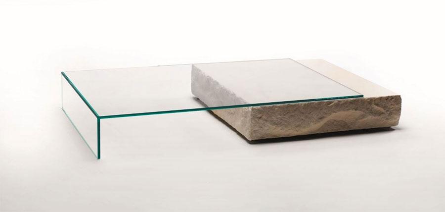 Modello di tavolino da salotto in vetro n.15