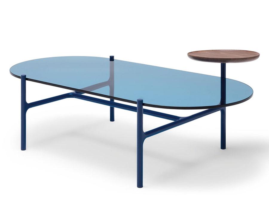 Modello di tavolino da salotto in vetro n.16