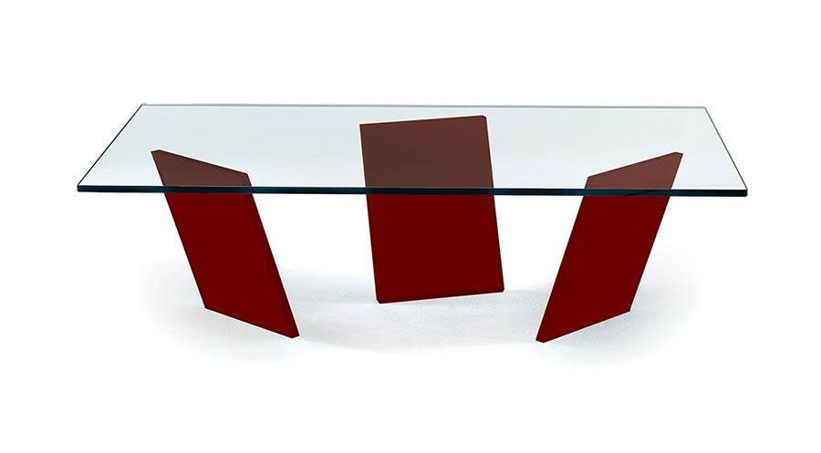 Modello di tavolino da salotto in vetro n.17