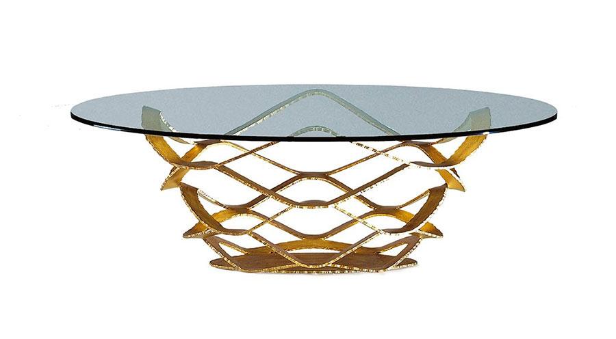 Modello di tavolino da salotto in vetro n.18