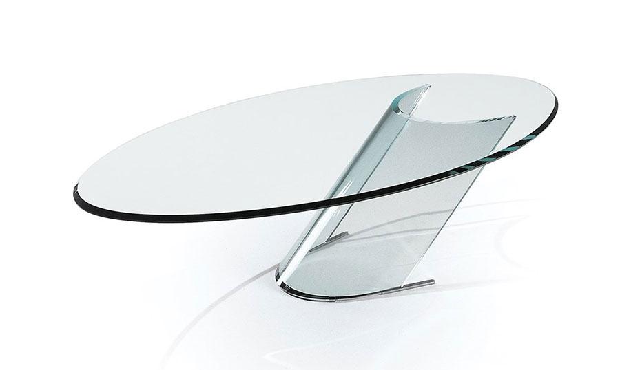 Modello di tavolino da salotto in vetro n.19