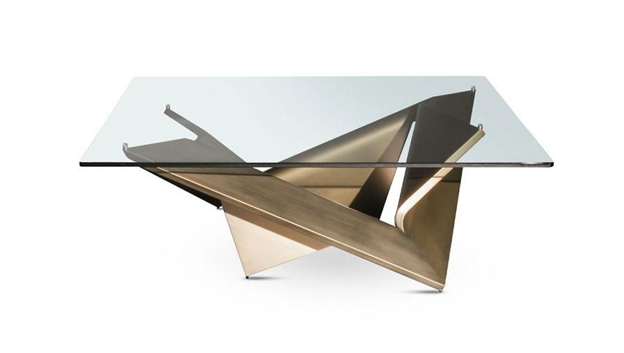 Modello di tavolino da salotto in vetro n.20
