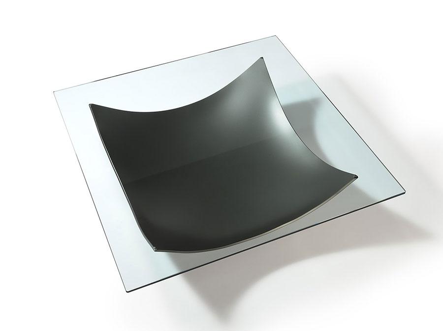 Modello di tavolino da salotto in vetro n.21