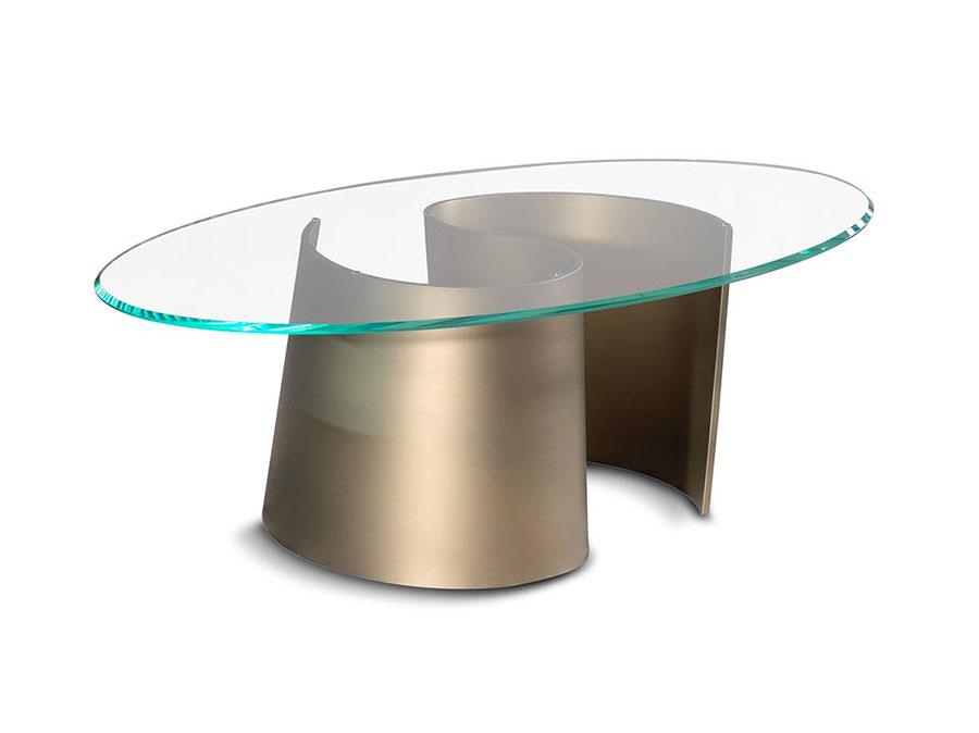 Modello di tavolino da salotto in vetro n.22