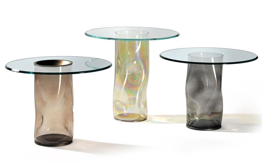 Modello di tavolino da salotto in vetro n.24