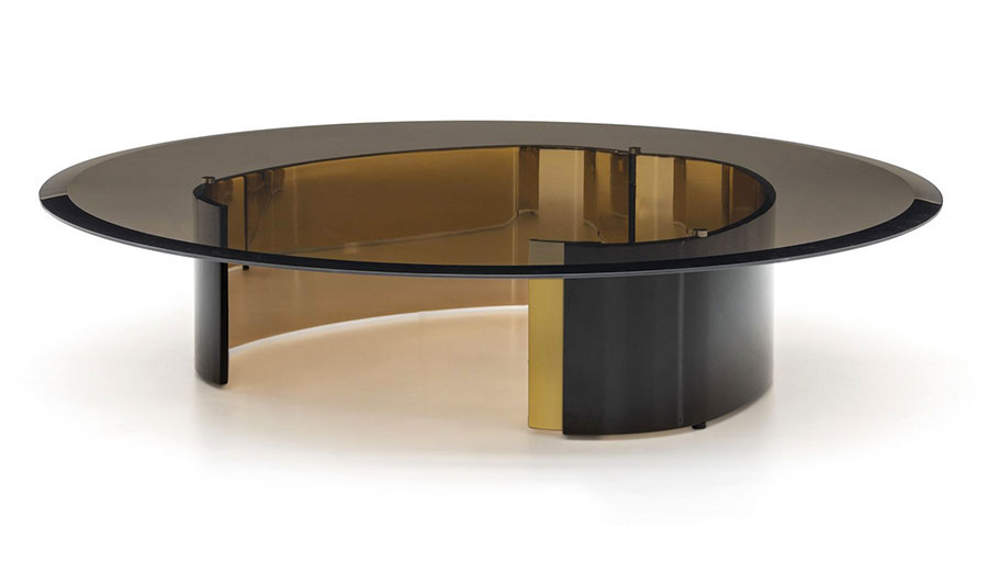 Modello di tavolino da salotto in vetro n.25