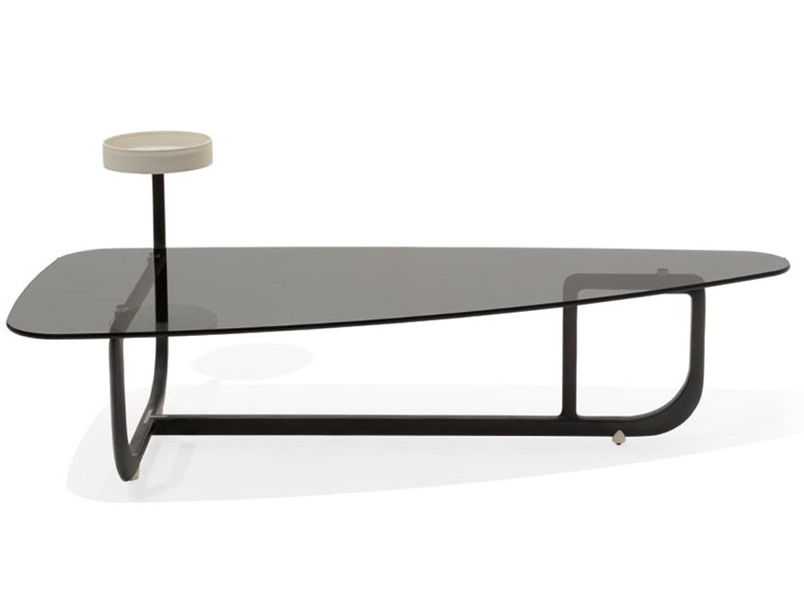 Modello di tavolino da salotto in vetro n.27