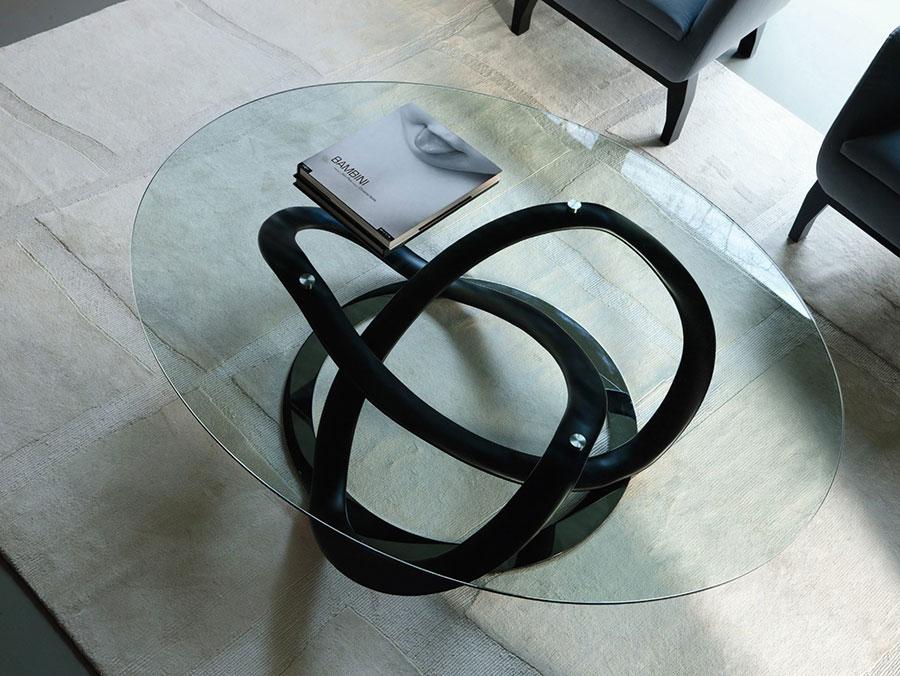 Modello di tavolino da salotto in vetro n.29