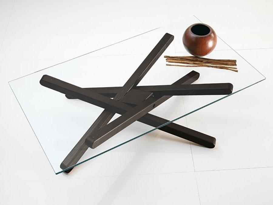 Modello di tavolino da salotto in vetro n.34