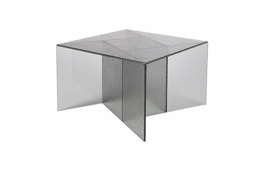 Modello di tavolino da salotto in vetro n.36