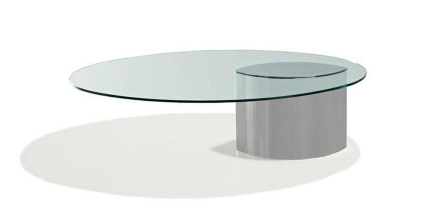Modello di tavolino da salotto in vetro n.39