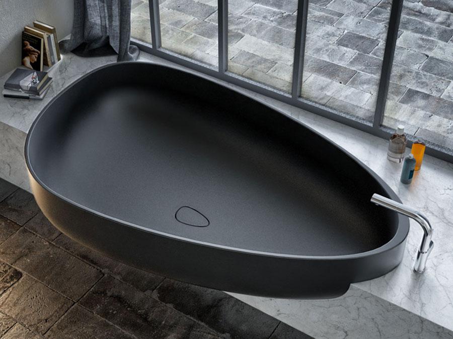 Modello di vasca da bagno nera n.18