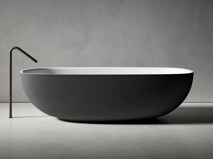 Modello di vasca da bagno nera n.25
