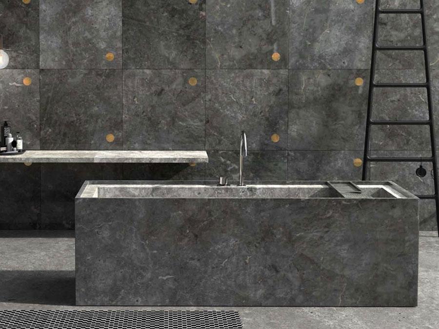 Modello di vasca da bagno nera n.26