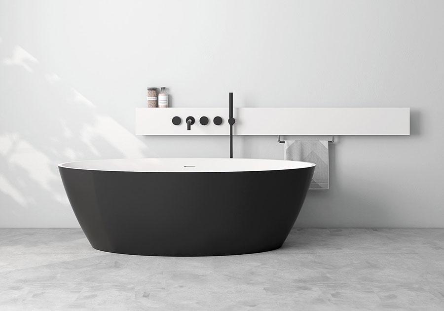 Modello di vasca da bagno nera n.29